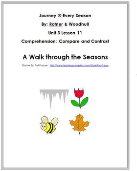 Text Dependent Questions  / A Walk through the Seasons