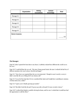 A Walk to Remember Writing Activity