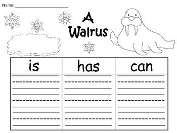 A+ Walrus: Three Graphic Organizers