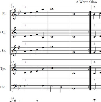 A Warm Glow - Beginning Band Composition