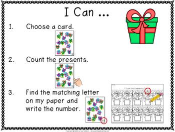 Kindergarten Math Centers {Christmas themed}