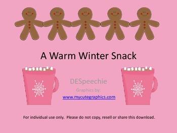 A Warm Winter Snack - Freebie