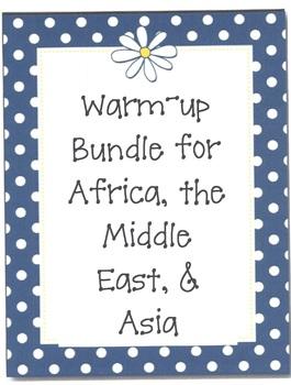 A Warm-up Bundle for 7th Grade Georgia Social Studies