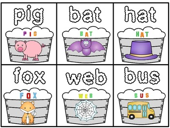 A+ Washing Tubs And Bubbles: CVC Words