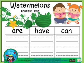 A+  Watermelons... Three Graphic Organizers