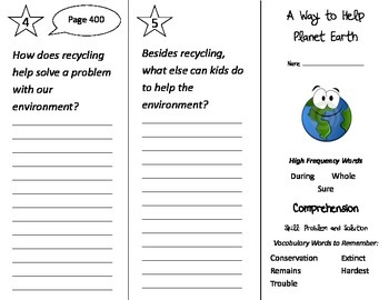 A Way To Help Planet Earth - Treasures 2nd Grade Unit 6 We