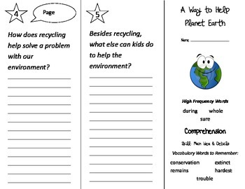 A Way To Help Planet Earth Trifold - Treasures 2nd Grade Unit 4 Week 3 (2009)