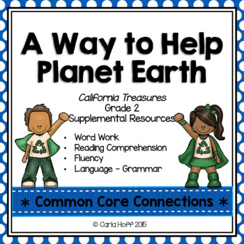 A Way to Help Planet Earth - Common Core Connections - Tre