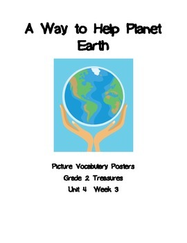 A Way to Help Planet Earth Picture Vocabulary Posters