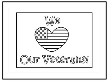 A+ FREEBIE: We Love Our Veterans! Poster