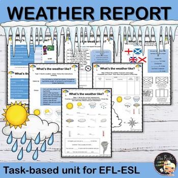 A Weather Report - ESL Worksheets #birthdaysale35