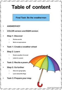 A Weather Report - ESL Worksheets