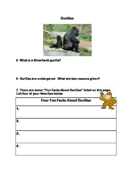 Gorillas -Webquest
