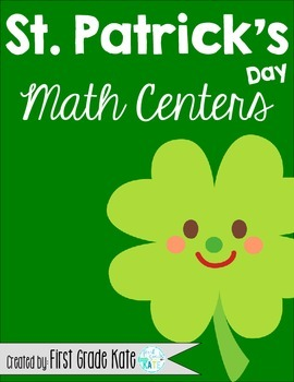 St. Patrick's Day Math Centers for First Grade