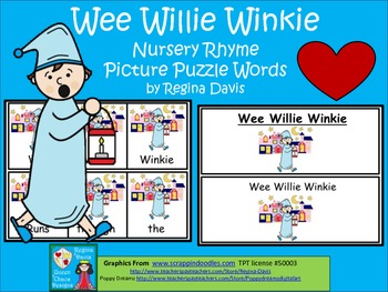 A+ Wee Willie Winkie: Picture Puzzle Words