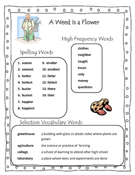 A Weed Is a Flower Grade 2 Reading Street Common Core 2013