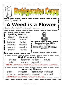 A Weed Is a Flower -Reading Street (2013) 2nd Grade Unit 3 Week 5