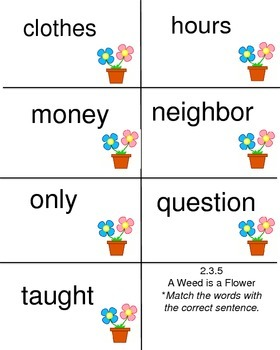 A Weed is a Flower - Reading Street