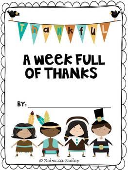 A Week Full Of Thanks- Thanksgiving Writing
