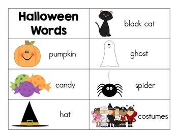 A Week Of Word Work Centers:  Halloween