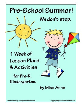 Summer Lesson Plans: Pre-K, Kindergarten - Ocean, Insects, Farms, Pineapples