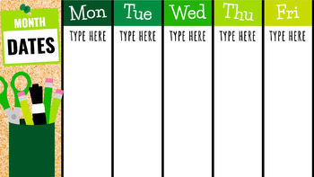 A Week at a Glance: Google Templates to Share Important Events with Students