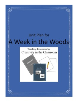 A  Week in the Woods Novel Unit Plus Grammar
