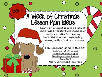 A Week of Christmas Lesson Plan Ideas