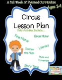 A Week of Circus Themed Lesson Plan