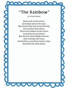 A Classical Poetry Unit for Kindergarten, Common Core Aligned