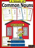 A Week of Common Nouns | Worksheets & Activity