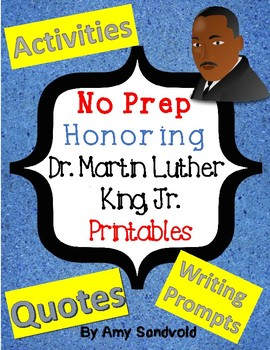 Martin Luther King Jr.:  No Prep Week of Lessons and Printables