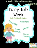 Preschool Lesson Plan Ideas for Fairy Tale Theme with Daily Preschool Activities