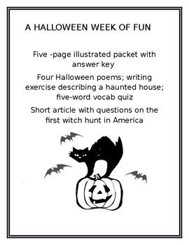 A Week of Halloween Fun