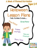 A Week of Halloween lesson plans for preschool