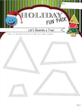 A Week of Holiday Activities - Fun Art, Language, Math, & Science Worksheets