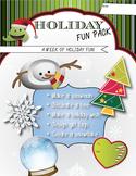 A Week of Holiday Activities - Fun Art, Language, Math, &
