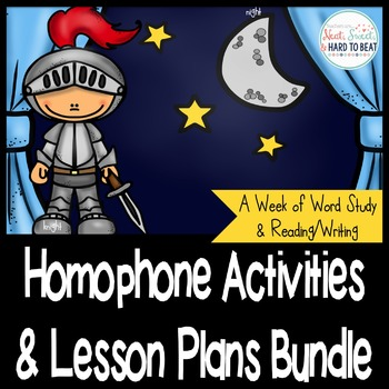 Homophone Activities and Lesson Plan Bundle