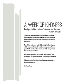 A Week of Kindness Activities