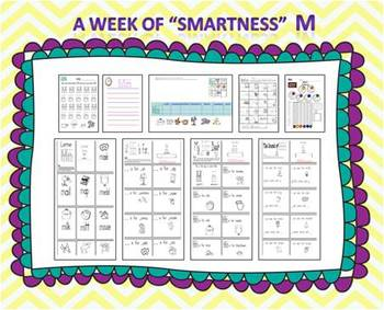 """A Week of """"Smartness"""" -A  Week of Smartlessons – Letter Mm"""