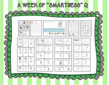 """A Week of """"Smartness"""" -A  Week of Smartlessons – Letter Qq"""