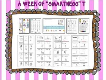 "A Week of ""Smartness"" -A  Week of Smartlessons – Letter Tt"