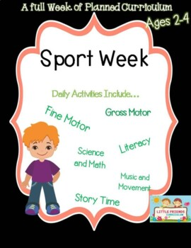 A Week of Sports themed lesson plans for preschool