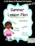 A Week of Summer Lesson Plans