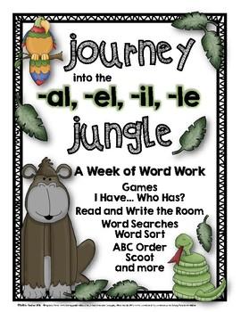 A Week of Word Work: Journey into the Schwa -al, -el, -il, -le Jungle