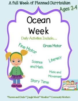 A Week of planned lesson Ocean Themed