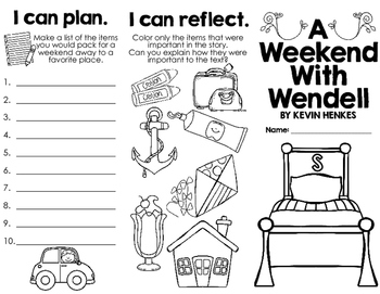 A Weekend With Wendell by Kevin Henkes: A book brochure/mini-book report