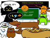 A Wiener Dog Halloween Clipart Pack