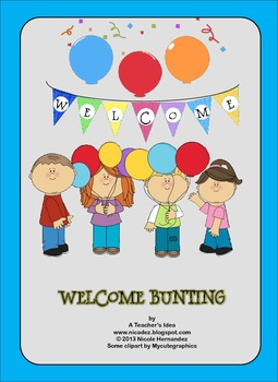 Welcome Bunting Free