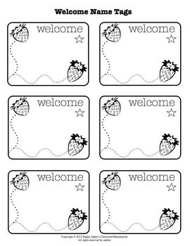 A Welcome Song - Sing Everyone's Name! with Cute Name Tags and Printables